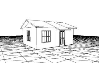Небольшой сборный дом из сэндвич-панелей 28 кв.м.